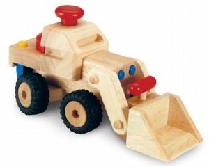 Houten bulldozer/shovel